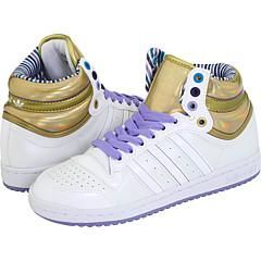 adidas Originals Top Ten Hi W White/White/Metallic Gold Athletic