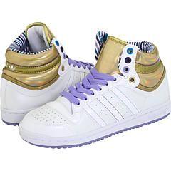 adidas Originals Top Ten Hi W White/White/Metallic Gold Athletic