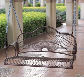 Sun Ray Iron Porch Swing