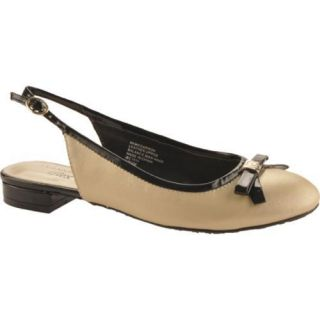 Womens Anne Klein McCarron Light Gold/Black Leather Today $45.95
