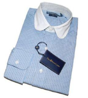 Mens Club Contrast Dress Shirt Blue White Stripe 15/38 $165 Clothing
