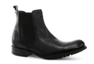 Base London Copper Grain Black Mens Ankle Boots Shoes
