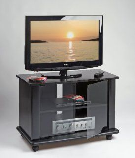 Elite Industries EL166   37 TV Stand with Casters Home