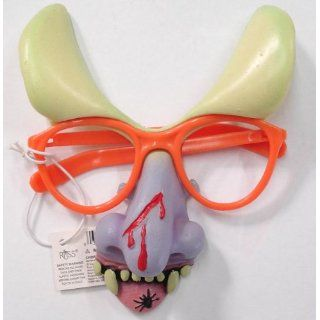 Halloween Accessory Orange Glasses Demon Nose Everything
