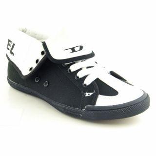 DIESEL Womens BN 210 Black Tegido Sneakers Shoes