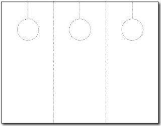 Blank Door Hanger 3 up 250 Sheets / 750 Door Hangers Home
