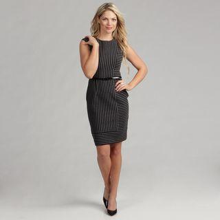 Calvin Klein Womens Striped Ponte Dress FINAL SALE