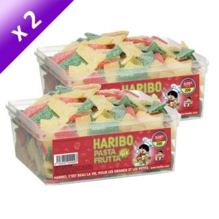 Haribo Pasta Frutta 200 pièces x2   Achat / Vente CONFISERIE DE SUCRE