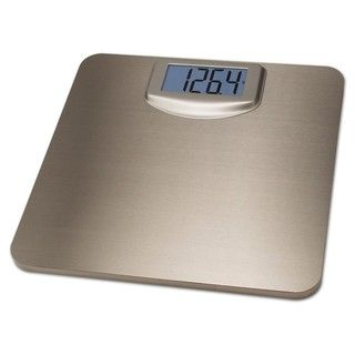 Taylor Super Thin Brushed Stainless Steel Lighted Digital Scale