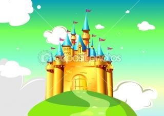 Cartoon Castle  Stock Vector © Мария Дементьева