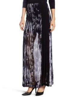 Robbi & Nikki Womens Graphite Print Pleated Maxi Skirt