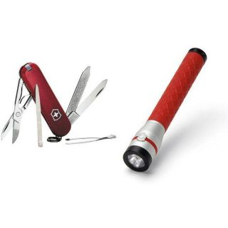 Swiss Army Classic Pocket Knife and Flashlight