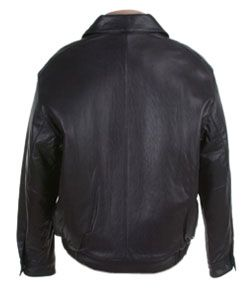 Andrew Marc Mens Leather Bomber Jacket