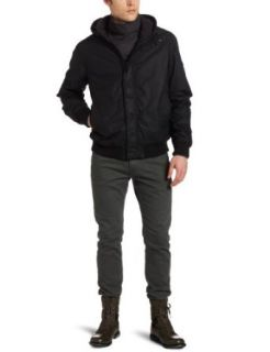 Ben Sherman Mens Hooded Bomber Jacket Clothing