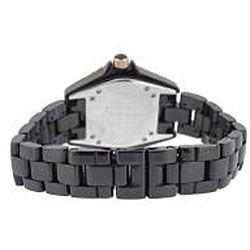 Le Chateau Womens Condezza LC Cubic Zirconia Black Ceramic Watch