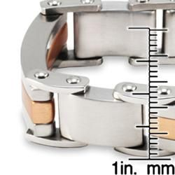 Goldplated Stainless Steel Mens Brushed Finish Bracelet