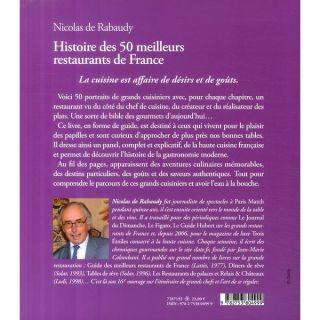 Histoire des 50 meilleurs restaurants de France   Achat / Vente livre