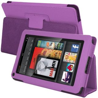 SKQUE  Kindle Fire Purple Leather Case