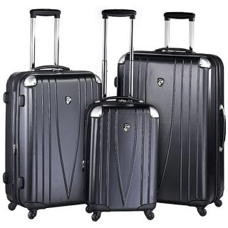 Heys 4WD Metallic Black 3 piece Hardside Spinner Luggage Set