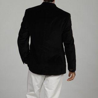 Adolfo Mens Black 2 button Velvet Sport Coat