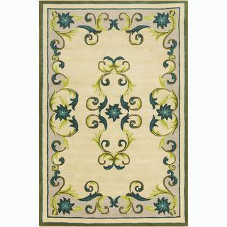 Allie Handmade Floral Wool Rug (5 x 76)