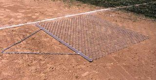 Chain Link Infield 6 x 6 ft. Drag Mat Sports & Outdoors