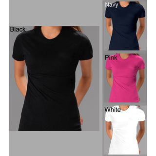 Womens Soft Cotton 3 Pack Crew Neck T shirt