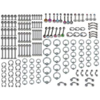 Piercing Jewelry Kit (173 Pieces of Jewelry) Everything