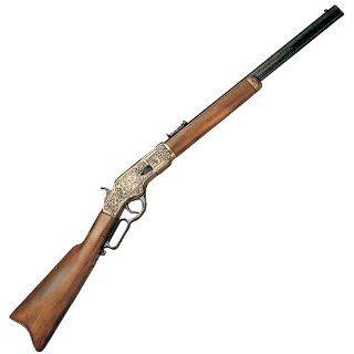 Denix 1873 Engraved Lever Action Rifle, Gold Finish