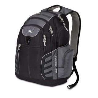 High Sierra Big Wig Black/Charcoal Laptop Backpack