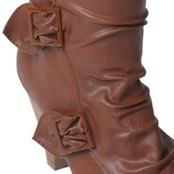 Bamboo by Journee Collection Womens Venus 90D Buckle Detail Boots