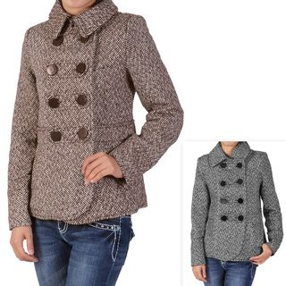Ci Sono by Journee Juniors Double breasted Tweed Coat