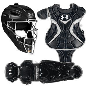 Under Armour Youth PTH Victory Catchers Set Black Sports