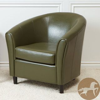 Christopher Knight Home Napoli Avocado Bonded Leather Club Chair