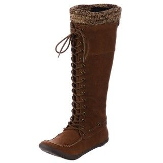 Big Buddha Grand Cognac Lace up Boots FINAL SALE