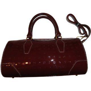Arcadia Patent Leather Purse Handbag Tote Salmon/Natural Shoes