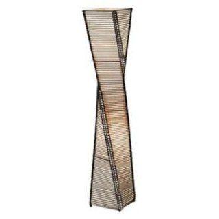 Stix Tower Black Twisted Metal Floor Lamp