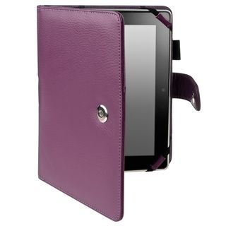 BasAcc Purple Leather Case for  Kindle Fire HD 7 inch