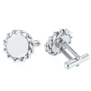 Stainless Steel Braided Rope Edge Cuff Links