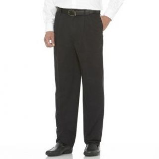 Savane Big and Tall Pleated Front Flex Waist Chino Casual