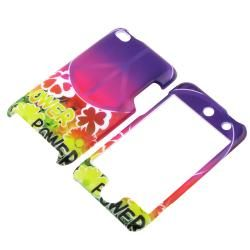 Peace Sign Flower Snap on Case for Apple iPod Touch Generation 4