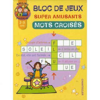 BLOC DE JEUX SUPER AMUSANTS ; MOTS CROISES   Achat / Vente livre
