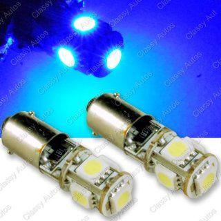 Classy Autos BLUE LED Bulbs 5SMD BA 9 BA 9S T4W 1895 53 57 182 257 363