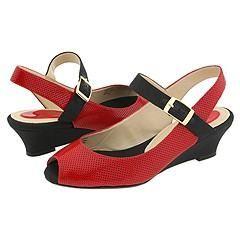Reneé Neesha Red/Black Pumps/Heels