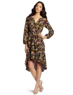 Charlie Jade Womens High Low Long Sleeve Dress Clothing
