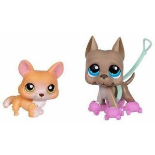 Littlest Pet Shop Corgi & Great Dane Pet Pairs #183 #184 Toys & Games