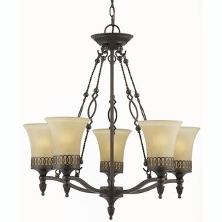 York Energy Star 5 light English Bronze Chandelier