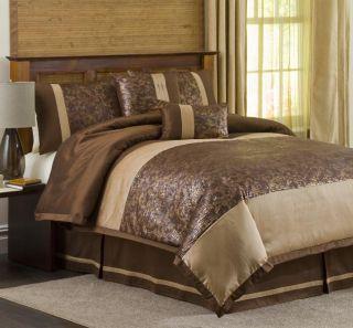 Lush Decor Metallic Crocodile Brown/ Gold 6 piece Comforter Set