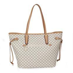 Rioni Womens Vanilla Medium Tote Bag