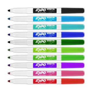 Low Odor Fine Point Dry Erase Markers (Case of 120)